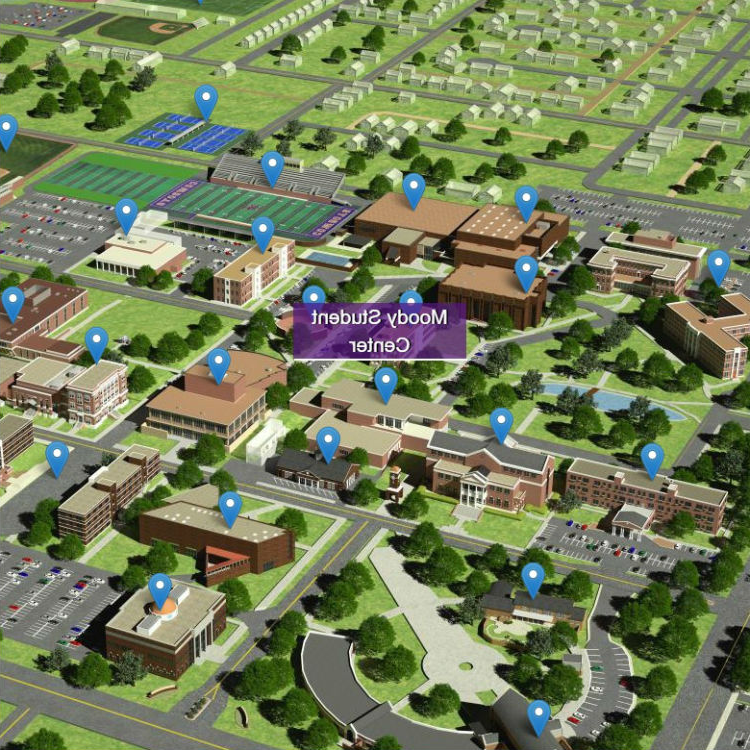 Image of HSU virtual tour map.