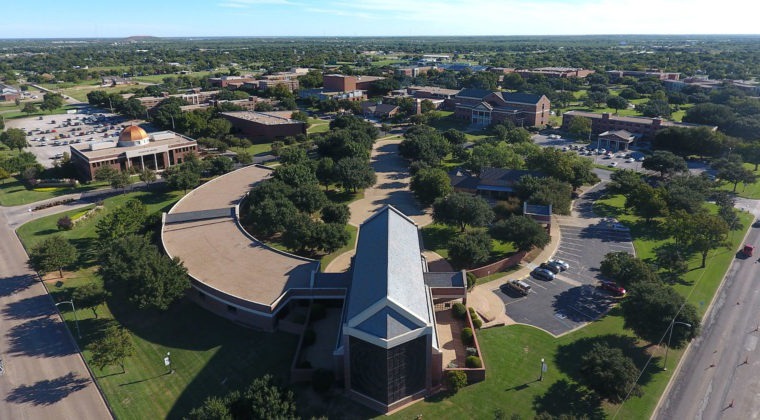 aerial view of Hardin-Simmons University campus