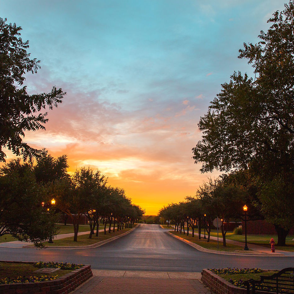 HSU campus at sunset